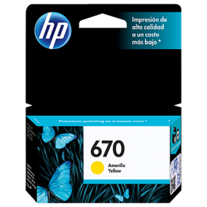 HP Tinta 670 Amarillo CZ116AL