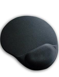 MicroLab Mouse Pad Gel Black Ergonomic