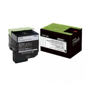 Lexmark Toner 808XK Negro 80C8XK0