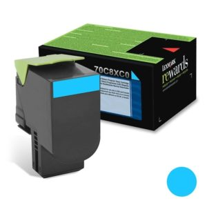 Lexmark Toner 708XC Cyan Alto Rendimiento 70C8XC0