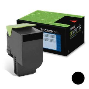 Lexmark Toner 708XK Negro Alto Rendimiento 70C8XK0