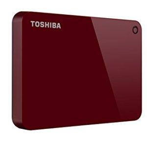 TOSHIBA Disco Duro Externo Canvio Advance Rojo V9 1TB HDTC910XR3AA