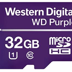 Western Digital Memoria Flash 32 GB microSDXC Purple Clase 10 WDD032G1P0A