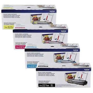 BROTHER Toner Juego TN-221BK TN-221M TN-221C TN-221Y