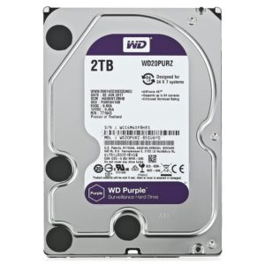 Western Digital Disco Duro Interno Videovigilancia 2TB Purple 3.5 WD20PURZ
