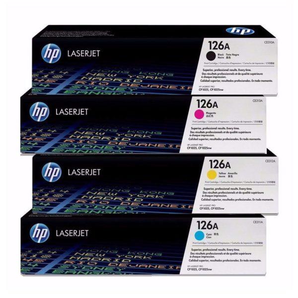 HP Toner Juego 126A LaserJet CE310A CE311A CE312A CE313A
