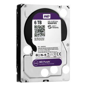 Western Digital Disco Duro Interno Videovigilancia 6TB Purple 3.5 WD60PURZ