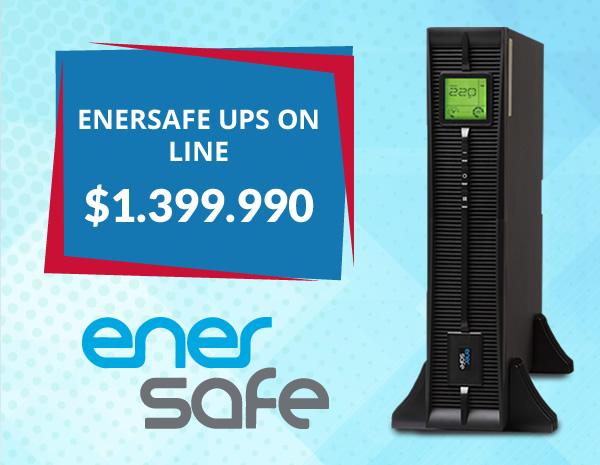 Enersafe UPS On line ESOL RTH-L 3KVA 3000W Baterias ION Litio UPSESOLRTHL3KVA