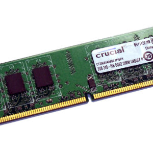 Crucial Memoria Ram DDR2 2GB 800MHz PC/server CT25664AA800