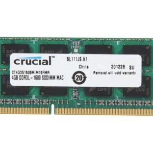 Crucial Memoria Ram DDR3 4GB 1600MHz Apple Mac CT4G3S160BM