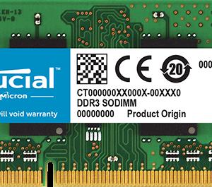 Crucial Memoria Ram DDR3 8GB 1.35V Apple Mac CT8G3S160BM