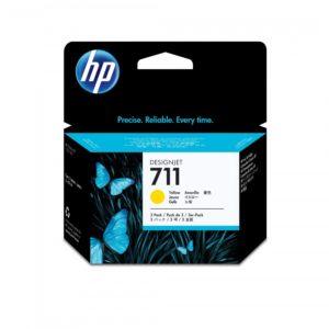 HP Tinta 711 Tripack Amarilla CZ136A 3 Cartuchos