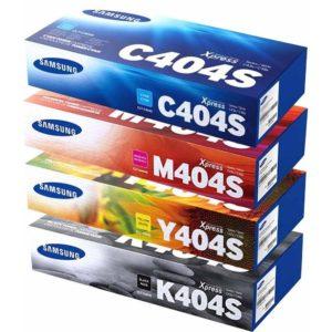 Samsung Toner CLT-K404s CLT-C404s CLT-M404s CLT-Y404s Pack 4 unidades