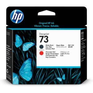 HP Cabezal de Impresión 73 Negro Mate y Rojo Cromático CD949A
