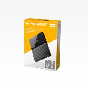 Western Digital Disco Duro Externo 4TB My Passport Negro WDBPKJ0040BBK-WESN