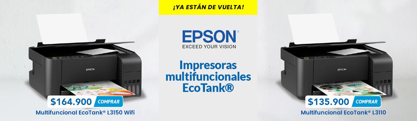 Impresoras multifuncionales epson ecotank L3110 y L3150